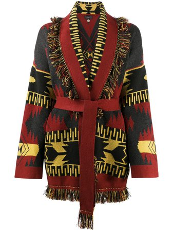 Alanui Geometric Pattern Knitted Cardigan - Farfetch
