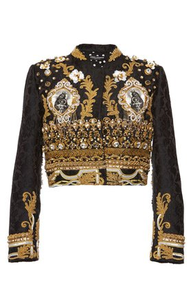 Baroque Gold Corded Evening Jacket