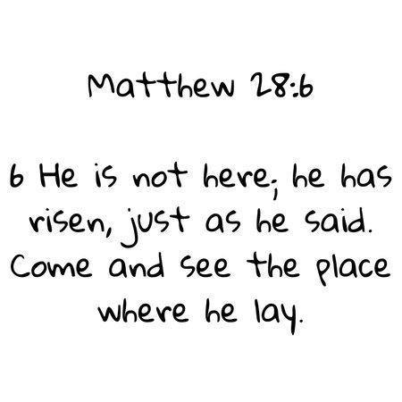 Easter Scripture - Matthew 28:6
