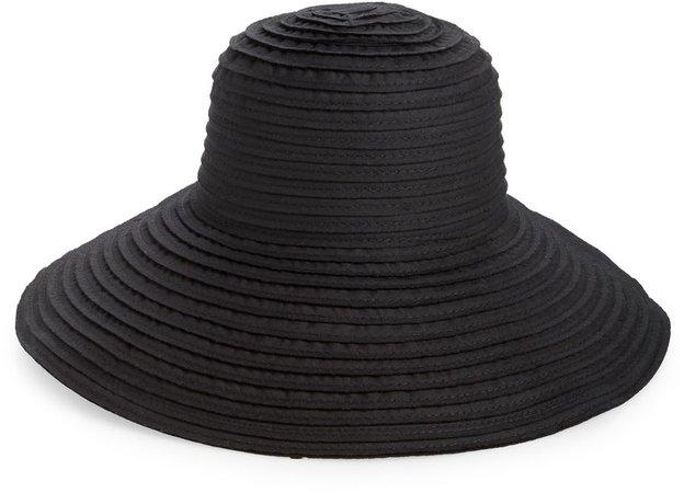 San Diego Hat Raw Edge Ribbon Sun Hat