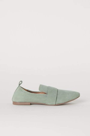 Suede Loafers - Green