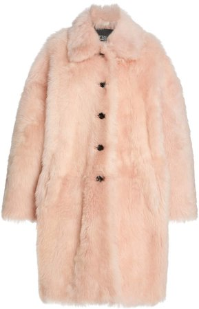 Marc Jacobs Shearling Balmacaan Coat