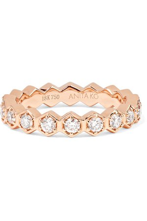 Anita Ko | 18-karat rose gold diamond ring | NET-A-PORTER.COM