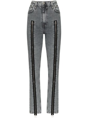 Helmut Lang zip-detailed Skinny Jeans - Farfetch