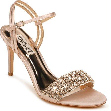 Garan Crystal Embellished Satin Sandal