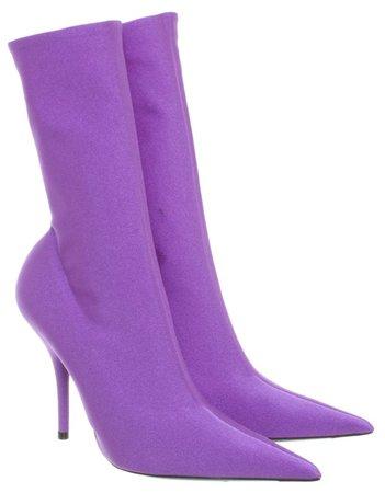 BALENCIAGA Violet Knife Boots