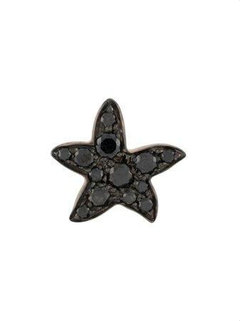 Dodo 9kt rose gold diamond Star earring black & gold DOHSTP9BB - Farfetch