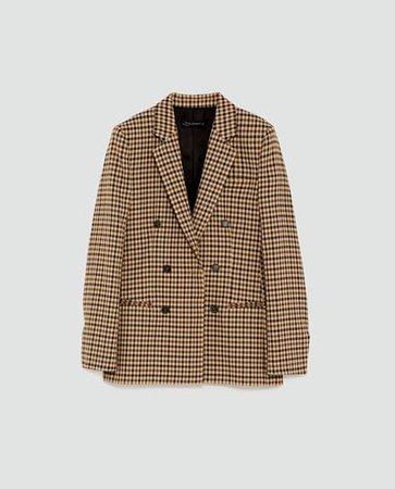 Brown check blazer