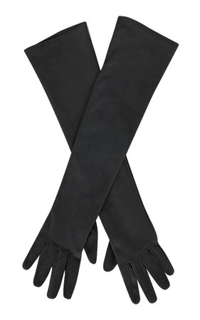 Long Suede Leather Gloves by Alberta Ferretti | Moda Operandi