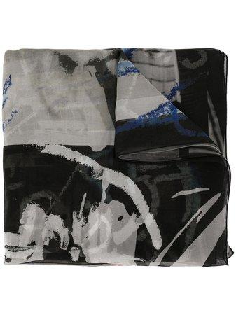 Discord Yohji Yamamoto Abstract Print Scarf - Farfetch