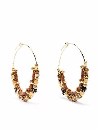 Gas Bijoux Comedia Beaded Hoop Earrings - Farfetch