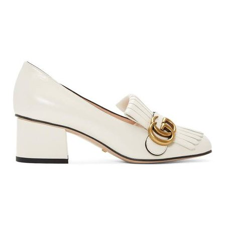 white loafer heels - Gucci, $920