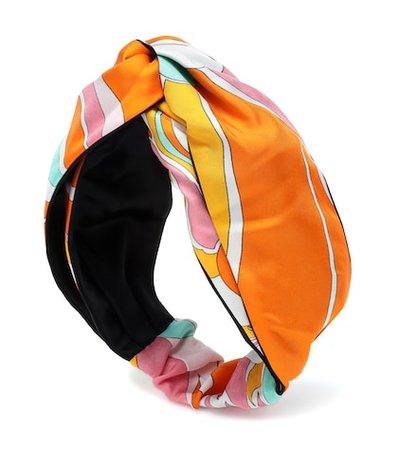 Printed silk headband