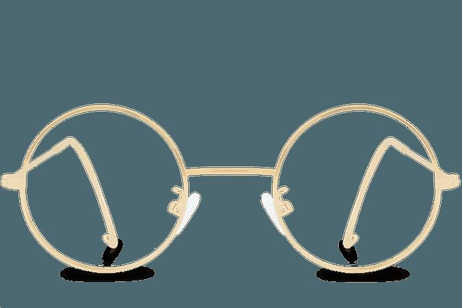round glasses gold - Cerca con Google