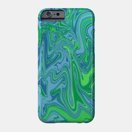 Garden Green Swirl - Garden - Phone Case   TeePublic
