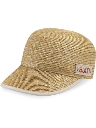 Gucci Grosgrain Trim Straw Baseball Hat - Farfetch