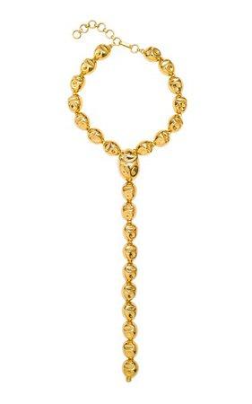 24k Gold-Plated Puerto Necklace By Monica Sordo | Moda Operandi