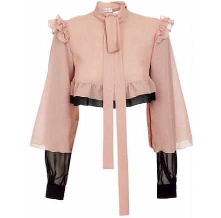 Light Pink Turtleneck Blouse