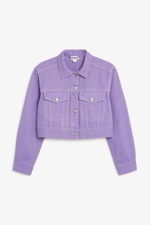 purple jean jacket