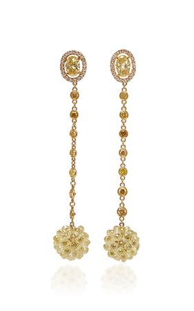 David Morris Briolette Ball Earrings