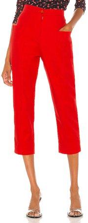 High Waist Pockets Trousers