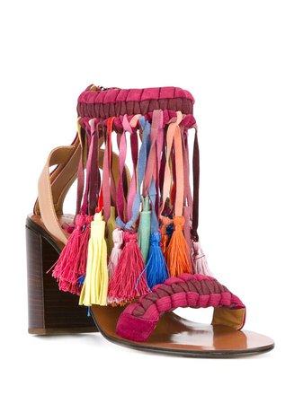 Chloé Rainbow Tassel Sandals - Farfetch