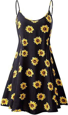 MSBASIC Women's Sleeveless Adjustable Strappy Summer Swing Dress