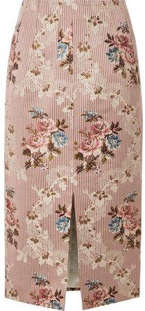 Sorrel Cotton And Silk-blend Jacquard Skirt - Blush