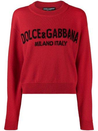 Dolce & Gabbana cashmere logo-intarsia jumper - FARFETCH