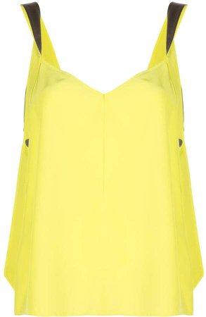 satin-strap sleeveless shift top