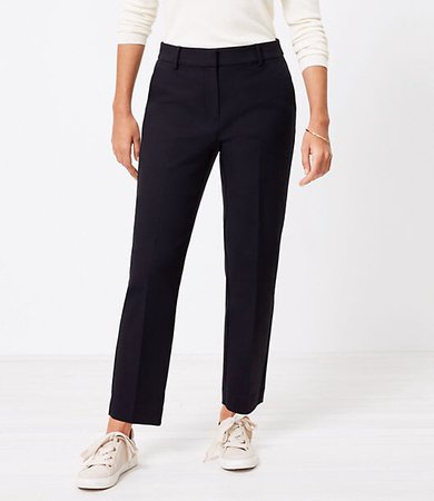 The Petite Curvy Perfect Straight Pant in Stretch Double Weave