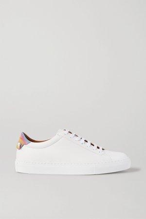 White Urban Street logo-print leather sneakers | Givenchy | NET-A-PORTER