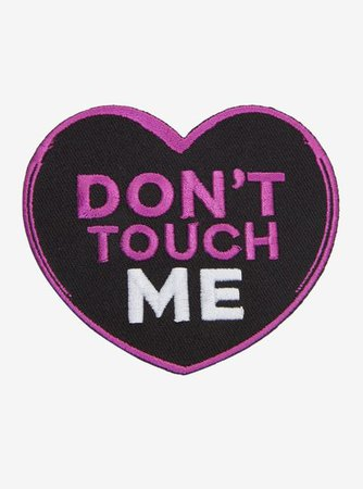 purple black filler heart patch sassy