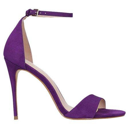 Carvela Glimmer High Heel Sandals, Purple Nubuck