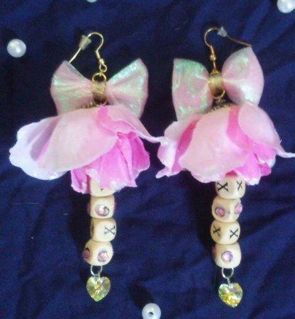 Lolita hime rose xoxo earrings   Etsy