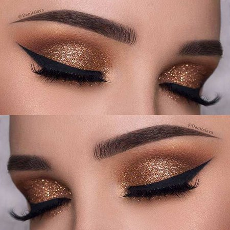 glittery eye-shadow