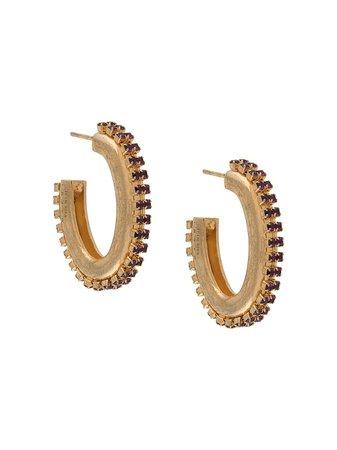 Marni crystal-embellished Hoop Earrings - Farfetch