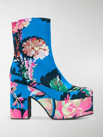 floral boots farfetch - Google Search