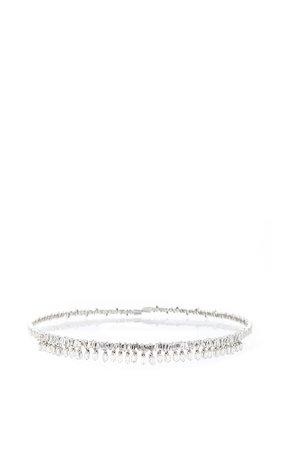 18K White Gold Diamond Baguette Choker by Suzanne Kalan | Moda Operandi