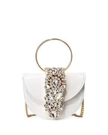 Gedebe Brigitte Mini Jeweled Snakeskin Top-Handle Bag | Neiman Marcus