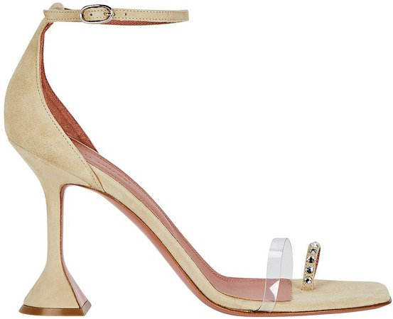 Oya PVC-Trimmed Suede Sandals