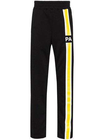 Palm Angels Logo Stripe Track Pants PMCA007S203840311060 Black | Farfetch