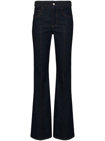 Shop blue Chloé flare high-waist jeans with Express Delivery - Farfetch