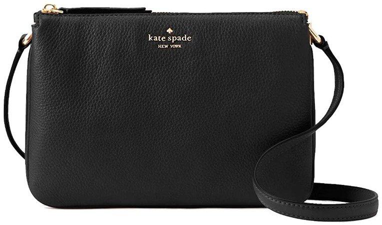 Kate Spade New York Triple Gusset Crossbody, Black: Handbags: Amazon.com