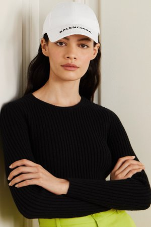 Balenciaga | Embroidered cotton-twill baseball cap | NET-A-PORTER.COM