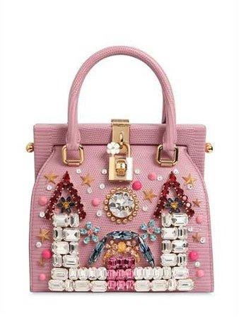 Castle Embellished Leather Dolce Bag
