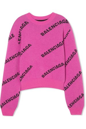 Balenciaga Pink Logo Sweater