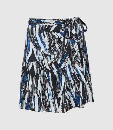 Astrid Black Print Printed Mini Skirt – REISS