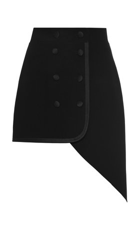 George Keburia Asymmetric Crepe Skirt Size: M