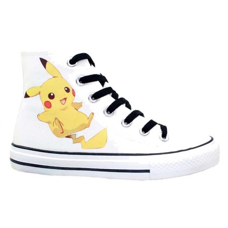 Xcoser Pikachu Shoes Cute Pattern White Sneakers Any Size:the Best Cosplay Masks on Xcoser.com